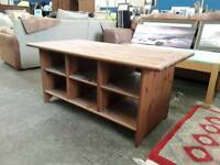 Mid Sized Coffee Table With Storage Spaces