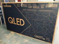 New tv 75 inch Samsung smart QLED
