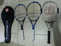 Tenis rackets 2x babolat contest limited and nanostrenght technology, 1wilson hamer carbon matrix