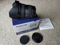 Tokina AT-X PRO 12mm-28mm F4 DX lens for canon crop sensor