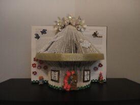beautiful hand folded book fairy house