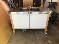Free standing IKEA Varde Double Sink