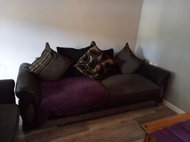 Scatter back sofa