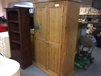 SOLID OLD PINE WARDROBE NEEDS A SAND