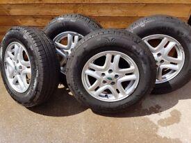 Freelander 2 wheels and tyres 215/75/16
