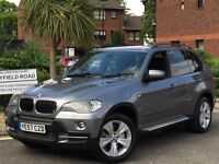 2008 BMW X5 3.0d SE AUTO-TIP FULL SPORT BLACK LEATHER SAT-NAV-DVD MINT IN/OUT