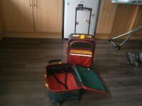 Childrens coloured suitcases/flight bag