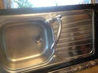 Carron stainless steal sink and mixer