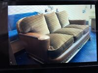 leather sofa, reupholstered and resprung 3 seater sofa, cost £1100 for sale at £550 can be dilivered