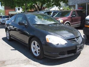 2003 Acura RSX Auto, 2DR, htd leather, sunroof, blk on blk