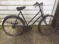 vintage raleigh bike, barn find project