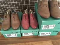 Clarke shoes 1f 13.5f and 4.5f