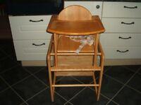 East Coast solid Wood Highchair/Lowchair/Chair & Table