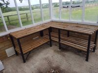 4 x Handmade Greenhouse Staging - 2 sizes - can sell separately