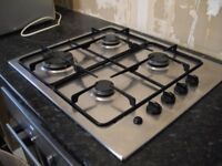 Electrolux 'Premier' gas hob, stainless steel
