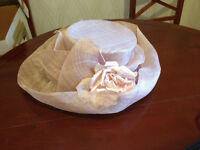 Beautiful pale pink Mother of the Bride Wedding Hat