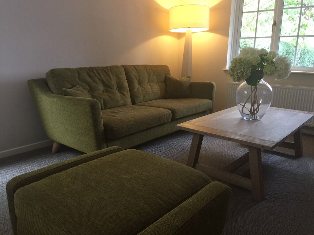ercol cosenza large sofa & footstool (save over £1000) | in