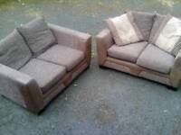 Two x two seaters Good clean condition FREE DELIVERY WITHIN 15 MILES