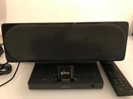 Sony SRS GUI10IP speaker with Bluetooth adapter