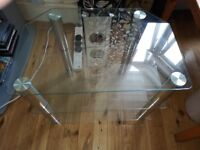 """John Lewis GP800 TV Stand for TVs up to 40"""", Clear Original price £99.95"""