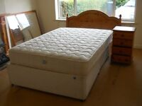 Double bed comes with Bed side table with draws and a mirror