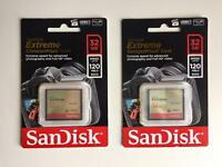 2x NEW Extreme Compact Flash Cards 32GB