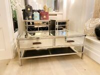 Bespoke Mirrored Coffee table with drawers