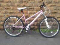 "NEW Falcon Vienna Ladies 26"" Wheel 18 Speed Alloy MTB Mountain Bike Pink - RRP £185"