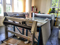 Large Format Roland Printer SC545EX / Graphtec Plotter FC7000-100 / Seal 54 Base Laminator