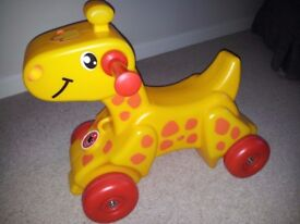 Ride-on Giraffe toy