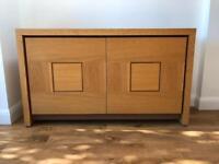 Designer sideboard in solid natural oak