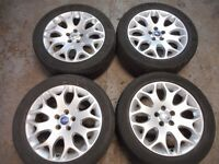 "FORD FOCUS TITANIUM X SPORT ST, MONDEO, S-MAX, TRANSIT CONNECT 17"" ALLOY WHEELS"