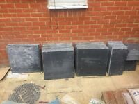 Brand new charcoal slate slabs. 3 different sizes