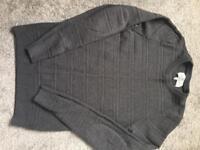 Mens next charcoal grey knitwear jumper size xs
