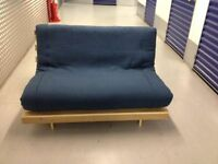 "FUTON COMPANY ""Orlando"" Double Futon Sofa Bed & Extra Cover, NAVY BLUE, Sofabed, + I CAN DELIVER"