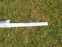 White Eurocell 10mm Soffit board clip / J trim