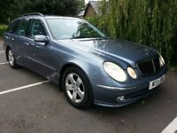 Mercedes Benz E320 CDI Avantgarde Auto Estate finished in Cobalt blue with F.S.H Beautiful car