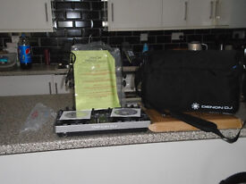 Denon DJ MC 2000 USB Controller with denon dj carry bag and laptop stand