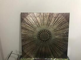 Next gold,bronze embossed canvas, excellent condition.