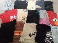 14 tshirts and cardigan XL and L
