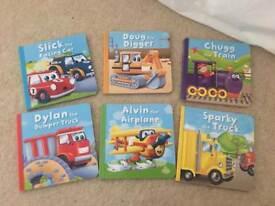 Set of 6 transport themed children's books