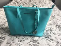 Turquoise Michael Kors handbag,no marks, excellent condition, comes with dust bag
