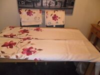two pairs of ring top lined curtains 66 x 90