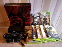 Limited edition Xbox 360 slim Gears of War 3 and games