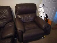 Leather recliner electric