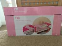 Pink soft folding bed guard