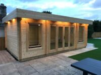 Deluxe Bournemouth Modern Log Cabin