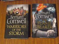 BERNARD CORNWELL BOOKS-WARRIORS OF THE STORM AND THE FLAME BEARER