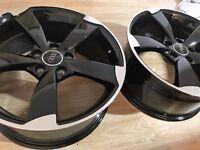 "NEW 19"" inch Audi Rotor Alloy Wheels Black Edition A3 A4 A5 A6 RS3 RS4 RS5 RS6 S5 S6 S3 S4 2017 x9j1"