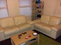 Leather Sofa 3 seater and 2 seater - £200